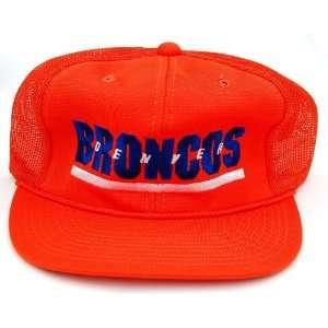 NFL Denver Broncos Orange Trucker Snapback Hat Cap Sports