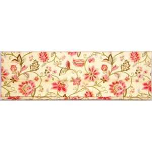 Cream Floral Fabric Roman Shade Black Out Lining