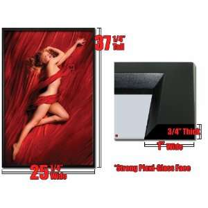 Framed Marilyn Monroe Red Silk Sexy Poster FrPp31399A
