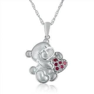 Sterling Silver Childrens Teddy Bear Pendant, 13 Jewelry