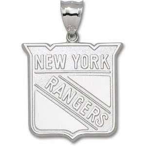 New York Rangers 1 1/2 Sterling Silver Shield Logo Giant