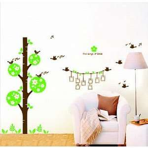Large Song of Birds Tree Birds Singing Hang Your Picture Wall Sticker