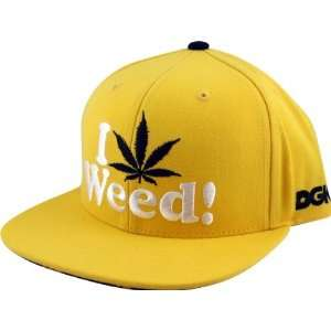 Weed Hat Adjustable Yellow Snap Back Skate Hats: Sports & Outdoors