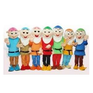 Snow Whites 7 Dwarfs All 7 Adult Mascot Costume