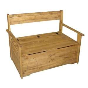 Corona Solid Pine Monks Bench Seat Storage Box Chest