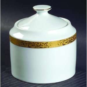 Nikko Gold Filigree Sugar Bowl & Lid, Fine China