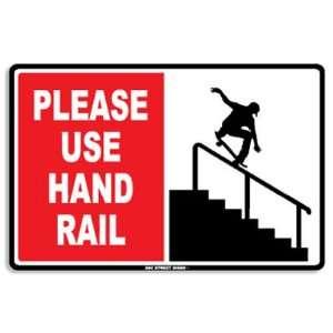 Seaweed Surf Co Please Use Hand Rail Aluminum Sign 18
