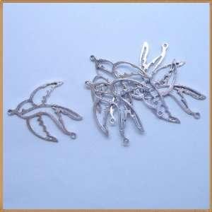 Tibetan silver Hollow Swallow Charm Pendant Beads Findings