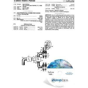 Patent CD for AIR CONDITIONING DISTRIBUTION SYSTEM Everything Else