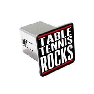 Table Tennis Rocks   2 Chrome Tow Trailer Hitch Cover Plug Insert