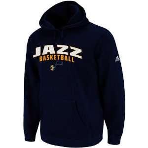 adidas Utah Jazz Navy Blue Playbook II Pullover Hoodie
