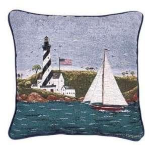 Decorative Nautical Throw Pillow   Coastal Breeze