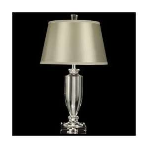 Dale Tiffany GT10012 Crystal Table Lamp, Nickel and Fabric Shade