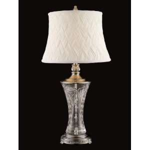 Dale Tiffany GT80547 1 Light Crystal Table Lamp Antique