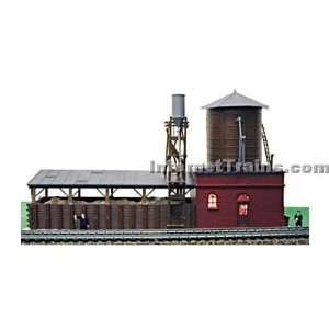 Model Power HO Scale Steam Loco Supply Built Up Building: Toys & Games