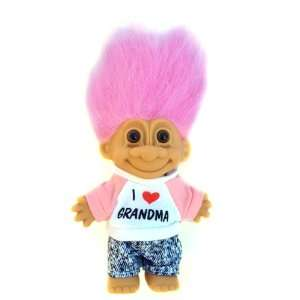 My Lucky I LOVE GRANDMA 6 Troll Doll ~ Pink Hair Toys & Games