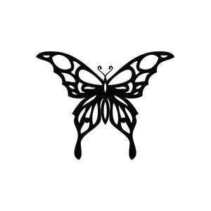 Butterfly Glass   Animal Decal Vinyl Car Wall Laptop