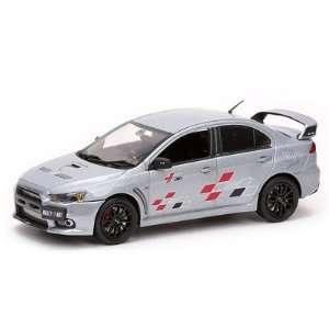 Mitsubishi Lancer Evolution X 10 Ralliart Metallic Silver 1/43  Toys