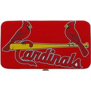 MLB St. Louis Cardinals Ladies Mesh Hard Shell Wallet   Red Sports