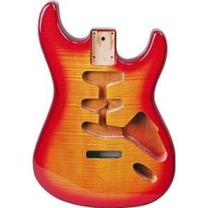 REPLACEMENT STRAT® BODY FLAME CHERRY SUNBURST: Musical