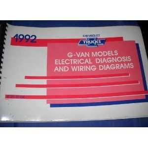 1992 GMC Savana Electrical Wiring Service Shop Manual gm