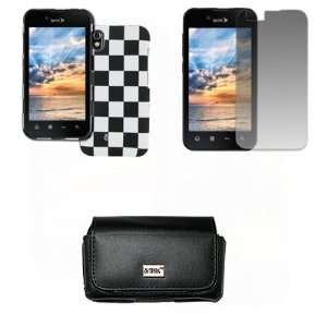 EMPIRE LG Marquee Black Leather Case Pouch with Belt Clip