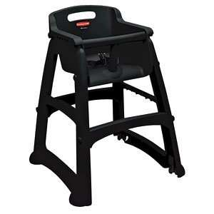 Rubbermaid FG780608 Black Sturdy Chair Youth Seat without Wheels, 23.5