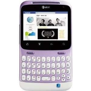 HTC ChaCha A810E Unlocked WHITE/PURPLE GSM QuadBand Cellular Phone