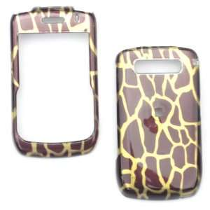 BROWN & GOLD 3D GIRAFFE ANIMAL PRINT snap on cover faceplate for