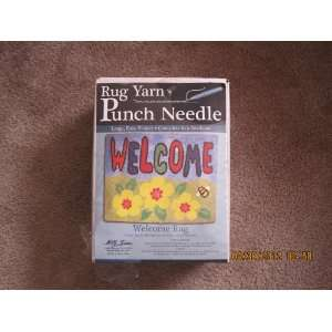 Rug Yarn Punch Needle Welcome Rug: Arts, Crafts & Sewing