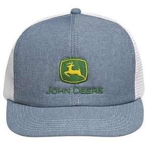 John Deere Denim Mesh Trucker Style Hat Home Improvement
