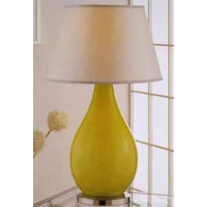 Green Glass Table Lamp With Night Light
