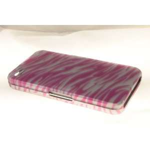 Apple iPhone 4 Hard Case Cover for Pink/Silver Zebra