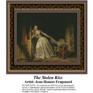 The Stolen Kiss, Counted Cross Stitch Patterns PDF