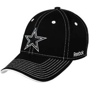 Reebok Dallas Cowboys Black Plough Flex Fit Hat  Sports
