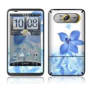 HTC HD7 Skin Decal Sticker   Blue Neon Flower