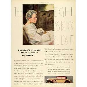 1930 Ad Fisher Body Lady Fur Coat Buick Straight Eight