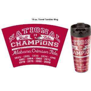 NCAA Alabama Crimson Tide Travel Mug National Champions