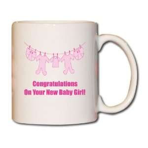 Its a Girl! 11 oz. Coffee Mug   Baby Clothes on Line