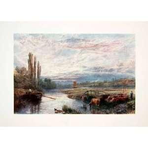 Color Print Myles Birket Foster River Yare Norfolk England Evening