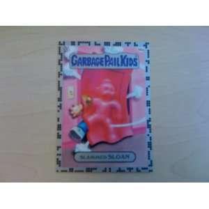 Garbage Pail Kids Stickers SLAMMED SLOAN #66a Silver Single Trading
