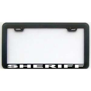 FUNNY HUMOR GIFT SHERIFF LICENSE PLATE FRAME Automotive