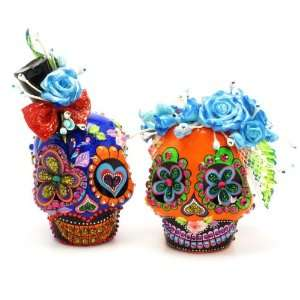 El Dia de los Muertos Skull Wedding Cake Topper A00122 Day of the Dead