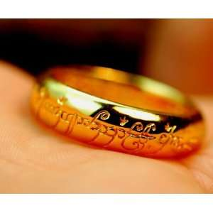 Lord of Ring   Yellow Gold Plated Ring Everything Else