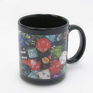 Pulp Gamer Pile of Dice Black Coffee Mug Toys & Games