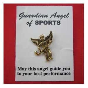 FIELD HOCKEY GUARDIAN ANGEL PIN:  Sports & Outdoors
