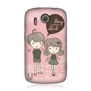 Ecell   HEAD CASE DESIGNS BOY MEETS GIRL DOODLES WITH LOVE