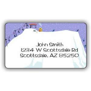 Ski Slope Return Address Label Office Products