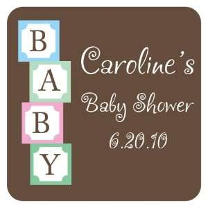 Baby Building Blocks Square Return Address Labels Office Products