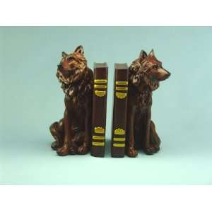 Wolf Book Ends  Home & Kitchen